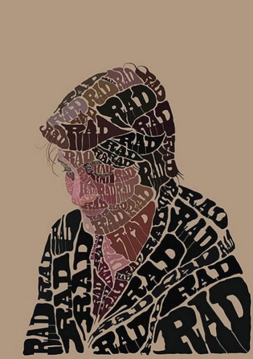 RAD Typographic Portrait