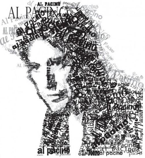 Al Pacino. Typographic Portrait