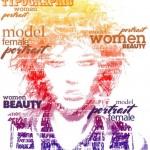 Women beauty. Typographic Portrait