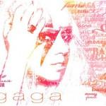 Gaga typographic Portrait