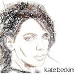 Kate Beckinsale Typographic Portrait