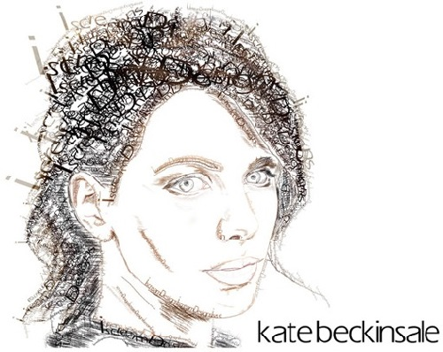 Kate Beckinsale Typographic Portrait
