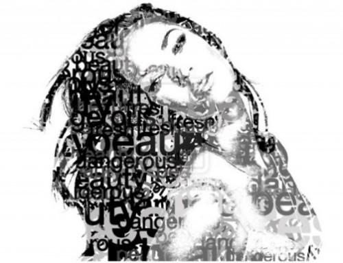 Beauty Typographic Portrait