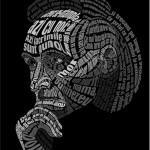Typographic Portraits made in Photoshop
