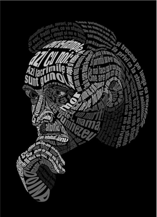 Typographic Portraits made in Photoshop