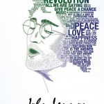 John Lennon. Typographic Portrait