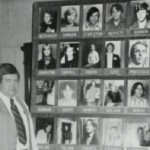 William Kunkle, prosecutor at Gacy's trial, standing before a board depicting the 22 victims identified by February 1980.