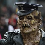 Zombies march in Mexico City