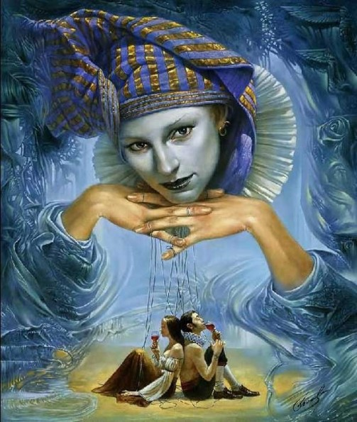 Beautiful paintings by Michael Cheval