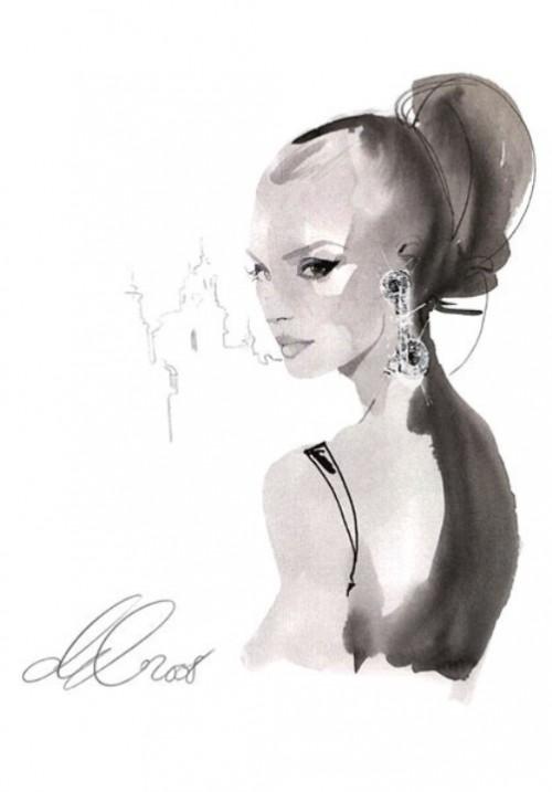 David Downton Fashion illustrations