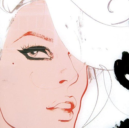 Drawing by fashion illustrator David Downton