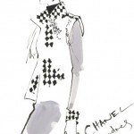 Chanel. 2007. Drawing by British fashion illustrator David Downton