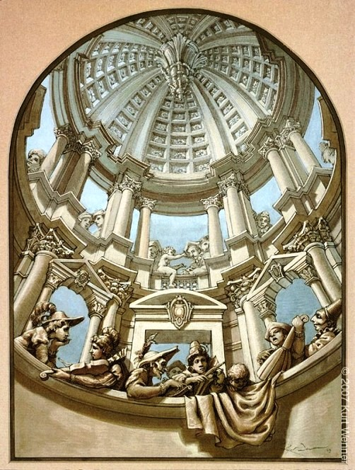 3D illusion by American artist Kurt Wenner