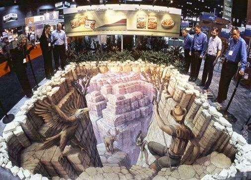 Three-dimensional illusion by Kurt Wenner
