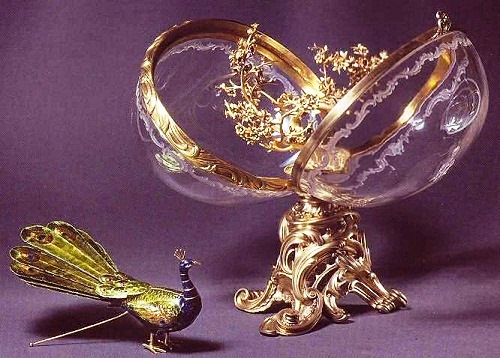 "Carl Faberge Easter eggs. Egg - ""Peacock."""