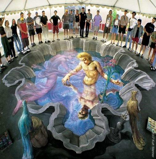 3D illusion by American artist Kurt Wenner