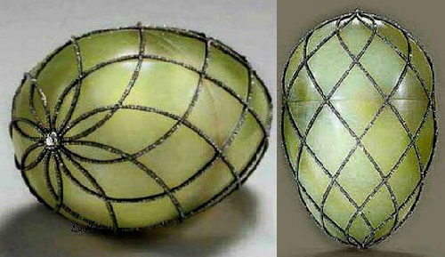 "Rare Faberge eggs - Egg - ""diamond mesh"""