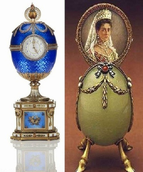 Egg with hooves made between 1886 - 1899 in the jewelry firm of Carl Faberge.