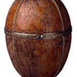 "Egg ""Birch"" is made by jeweler Carl Faberge firm in 1917"