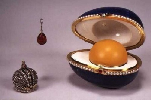 "The work of Faberge jewelry. It is known under the name - ""Bloodstone."""