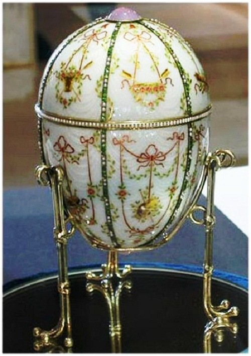 "Egg - ""candy-box."" Made for the jewelry firm of Carl Faberge in 1903"