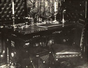 Russian Emperors train. A writing desk of the Empress.