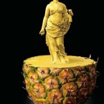 Incredible vegetable carving art, although fake. Creative Advertisement poster 'For Those Who Value Precision' for WMF Knives