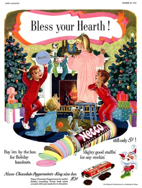 Vintage Holiday Advertising. Bless your hearth