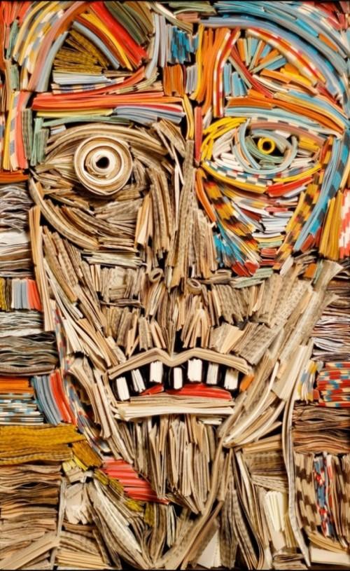 Nick Georgiou sculptures from books