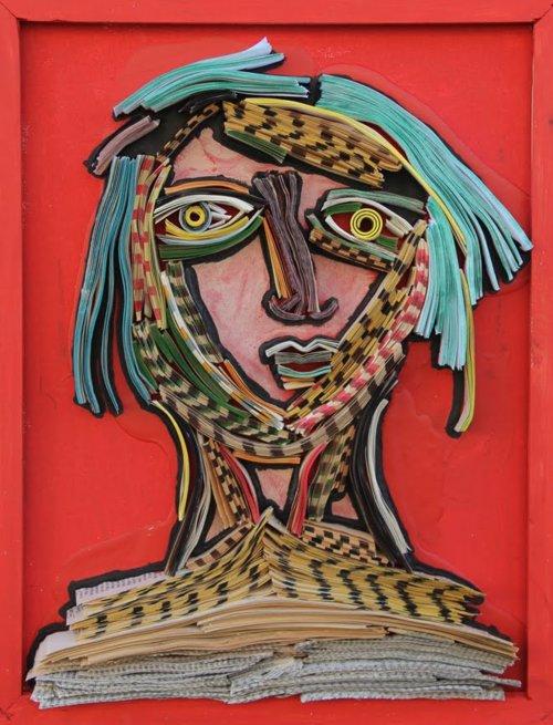 Portrait. Book sculptures by Nick Georgiou