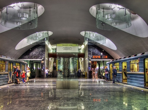 Opened in 2011 Borisovo station of Moscow Metro