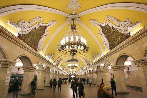 Unerground interior, Moscow Metro