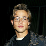 Young and beautiful Hollywood star Brad Pitt