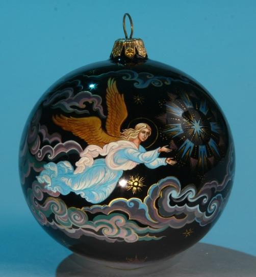 Christmas tree balls of Village Holuy