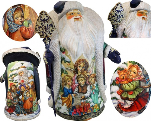 Father Frost, or Russian Santa. Christmas decoration by artists Andrew and Vicka Gabriht