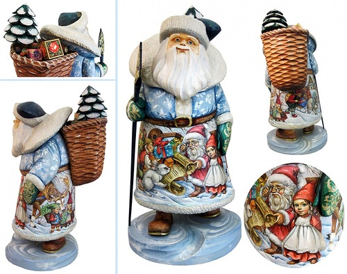 Figurines by 'DeBrekht Artistic Studio Russian Santas'. Painting by artists Andrew and Vicka Gabriht