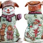 Snowman. Christmas decoration by 'DeBrekht Artistic Studio Russian Santas'