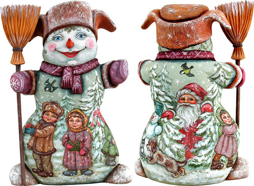 Snowman. Christmas decoration by 'DeBrekht Artistic Studio Russian Santas'