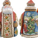 Traditional Russian folk crafts in Christmas decoration by Andrew and Vicka Gabriht
