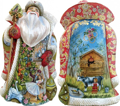 Fabulous Christmas decoration by 'DeBrekht Artistic Studio Russian Santas'. Painting by artists Andrew and Vicka Gabriht