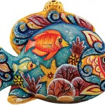 Fish, handpainted in Russian folk style. Work by Andrew and Vicka Gabriht