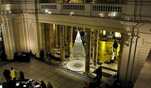 Christmas tree in the Victoria and Albert Museum