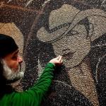Creative Coffee beans mosaic