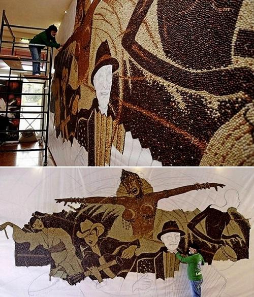 Beautiful Coffee beans mosaic