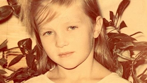 Darya Domracheva in childhood