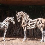 Horse sculptures by Heather Jansch
