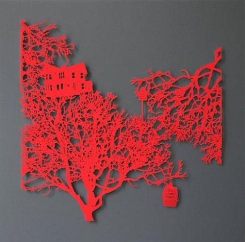 Lace Paper Cut by Australian artist Emma Van Leest