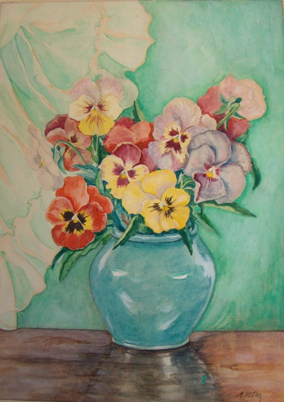 Large colored Pansies