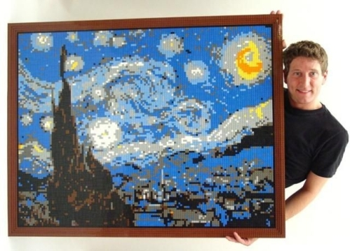Starry night. Lego sculptures by New York-based artist Nathan Sawaya