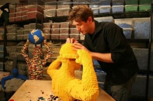 Starry night. Lego sculptures by New York-based artist Nathan Sawaya